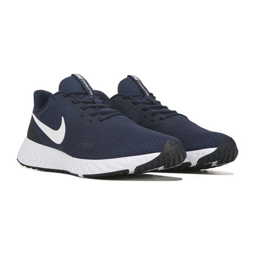 [BRM1919760] 나이키 레볼루션 5 런닝화 맨즈 (Navy/White)  Nike Men's Revolution Running Shoe