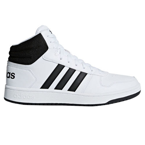 [BRM1910116] 아디다스 Hoops 2.0 미드 농구화 맨즈 BB7208  (White/Black)  adidas Mens Mid Basketball Shoe