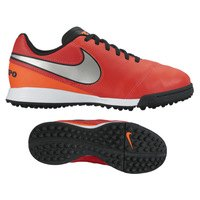 나이키 Youth 티엠포 레전드 VI 터프 축구화 키즈 819191-608 (Crimson/Silver)  Nike Tiempo Legend Turf Soccer Shoes [BRM1918559]