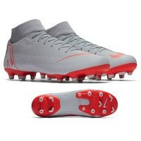 나이키 슈퍼플라이 6 아카데미 MG 축구화 맨즈 AH7362-060 (Grey/Crimson)  Nike Superfly Academy Soccer Shoes [BRM1918812]