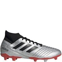 아디다스 프레데터 19.3 FG 실버 Metallic/Core Black/Red 펌그라운드 축구화 맨즈 F35595  adidas Predator Silver Firm Ground Soccer Cleats [BRM1918596]