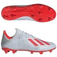 아디다스 X 19.3 FG 맨즈 F35382 축구화 (METALLIC-SILVER/RED)  adidas [BRM1918683]
