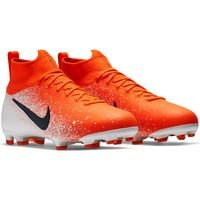 나이키 JR 머큐리얼 슈퍼플라이 6 엘리트 FG 키즈 Youth AH7340-801 축구화 (ORANGE-WHITE-DARK GREY)  NIKE MERCURIAL SUPERFLY ELITE [BRM1918895]