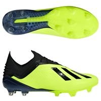 아디다스 X 18.1 FG 맨즈  축구화 (SOLAR YELLOW/CORE BLACK/FOOTWEAR WHITE)  adidas [BRM1918609]