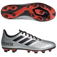 아디다스 프레데터 19.4 FxG 맨즈  축구화 (SILVER METALLIC/CORE BLACK/HI-RES RED)  adidas Predator [BRM1918664]