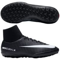 나이키 Jr. 머큐리얼X 빅토리 VI DF TF 키즈 Youth  축구화 (BLACK/WHITE/UNIV RED)  Nike MercurialX Victory [BRM1918715]