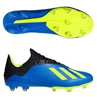 아디다스 X 18.2 FG 맨즈  축구화 (FOOTALL BLUE/SOLAR YELLOW/CORE BLACK)  adidas [BRM1918738]