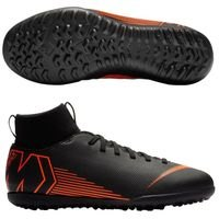 나이키 Jr. 머큐리얼 슈퍼플라이X 6 클럽 TF 키즈 Youth  축구화 (BLACK/TOTAL ORANGE/WHITE)  Nike Mercurial SuperflyX Club [BRM1919412]